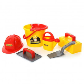 Polesie Construction tools with helmet 7 el.
