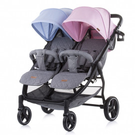 Chipolino Baby stroller for two kids 2 CLASSY Blue and Pink