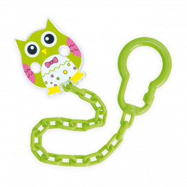 Canpol babies Clip Pacifier with chain Owl green