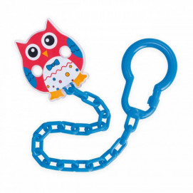 Canpol Clip Pacifier with chain Owl red