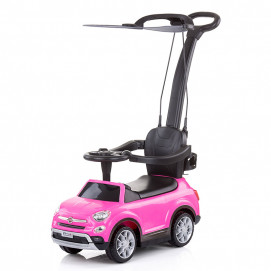Chipolino Licensed musical ride on car FIAT 500X Pink