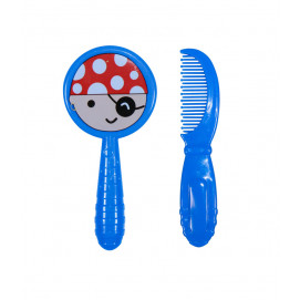 Baby Care Set brush and comb blue Pirate