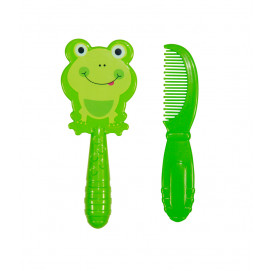 Baby Care Set brush and comb Green Glove