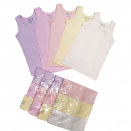 Venera Set of 3 tank top rips for girl 7103 (from 86 to 128 cm)