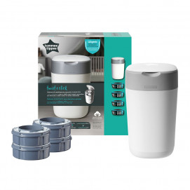 Tommee Tippee TWIST& CLICK Nappy Disposal System +4 refill cassettes