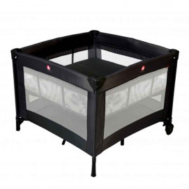 Topmark Baby cot for sleeping and playing PARKER Black