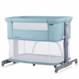 Chipolino Co-sleeping crib with drop side MOMMY 'N ME 2 in 1 Blue Mint