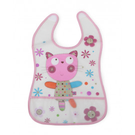 Cangaroo Bib Happy meal pink