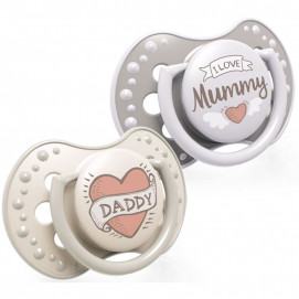 Lovi Silicone Dynamic Soother 6-18m 2 pcs I LOVE