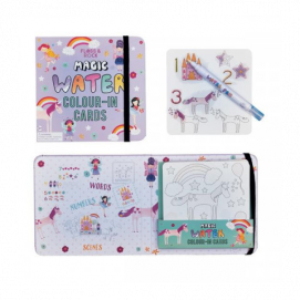 Floss and Rock Magic Water Colour-in cards Unicorn