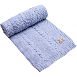 Bio Baby Baby blanket 85/100 cm from 100% merino wool Blue