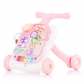 Chipolino Musical first steps push toy 2 in 1 MULTI Pink