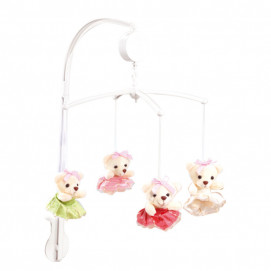 Chipolino Musical mobile for bed Princess bears