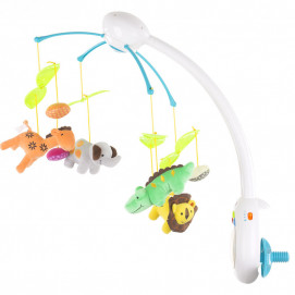 Chipolino Musical mobile for bed with remote control Zoo