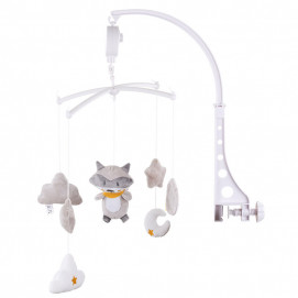 Chipolino Musical mobile for bed Raccoon