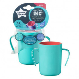 Tommee Tippee An indestructible 360 ° transition cup with handles 200ml. 6м+ boy
