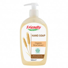 Friendly Organic Natural Hand Soap with extracts of organic rice 500 ml