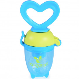 Cangaroo Silicone pacifier LOVE 6m+ for soft food Light blue