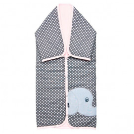 Womar Multifunctional cover Elephant grey and pink