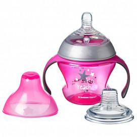 Tommee Tippee Transient cup with two handpiece 150ml. pink