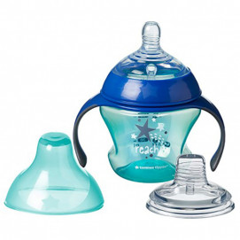 Tommee Tippee Transient cup with two handpiece 150ml. blue