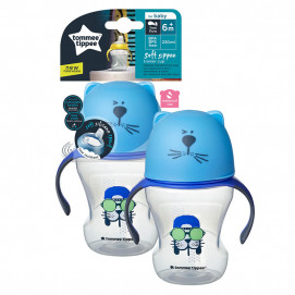 Tommee Tippee Soft Spout Trainer Cup 230ml, 6m+ blue
