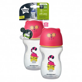 Tommee Tippee Soft Sippee Cup Pink 300ml 12+months