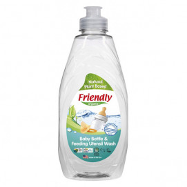 Friendly Organic Preparation for hand washing baby bottles and 414 ml containers.