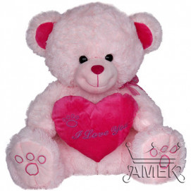 Aмек Toys Bear with heart and ribbon 50cm