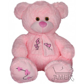 Aмек Toys Bear with hearts pink scarf 70 cm.