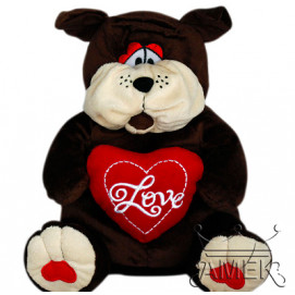 Aмек Toys Plush toy dog with heart 56cm