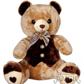 Aмек Toys Bear with bodice and ribbon 56cm