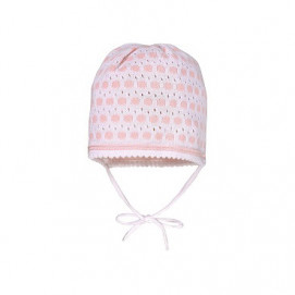Maximo Knitted hat Pink and White