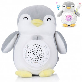 Chipolino Soothing plush toy with projector and music Penguin
