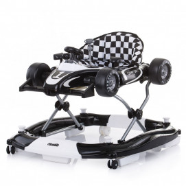 Chipolino Musical baby walker 4 in 1 RACER Black and White