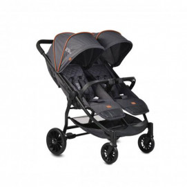 Moni Baby stroller for twins ROME Black
