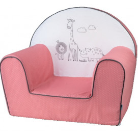 Bubaba Children's armchair Safari Pink