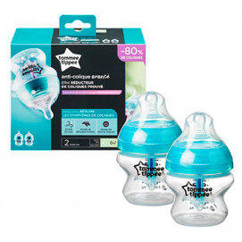 Tommee Tippee Feeding Bottle Anti-Colic 150ml 0 monts+ 2 pcs Transparent