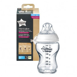 Tommee Tippee Glass feeding bottle Easi Vent 250ml.