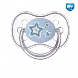 Canpol Silicone Soother with symmetrical shape blue Newborn Baby 6-18m.