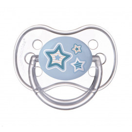 Canpol Silicone Soother 6-18m Newborn Baby Star blue