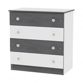 Lorelli Children's dresser white/graphite