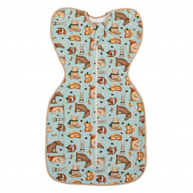 Bio Baby Baby sleeping bag type swaddle with Winter motifs (0-3 months)