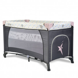 Moni Bed cot and play on two levels STAR DUO Pink