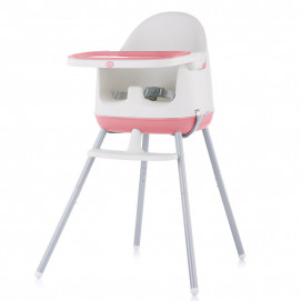 Chipolino High chair 3 in 1 PUDDING Peony Pink