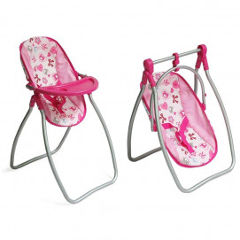 "Nano 2 в 1 Doll High chair and Swing ""Lovely Bear"""