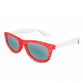 Visiomed  Sunglasses Miami Kids 4-8 years Red on white dots 2018