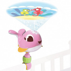 Tiny Love Music projector for bed / shelf whale Suzi pink