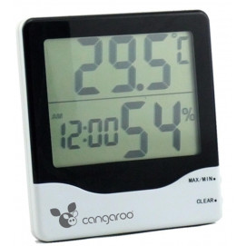 Moni Thermometer with a digital clock