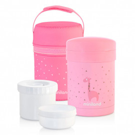Miniland Thermos Thermetic 3 in 1 700/350/200 ml Pink 89227